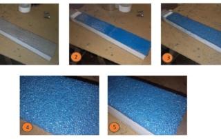 Bras de déviation de particules de verre
